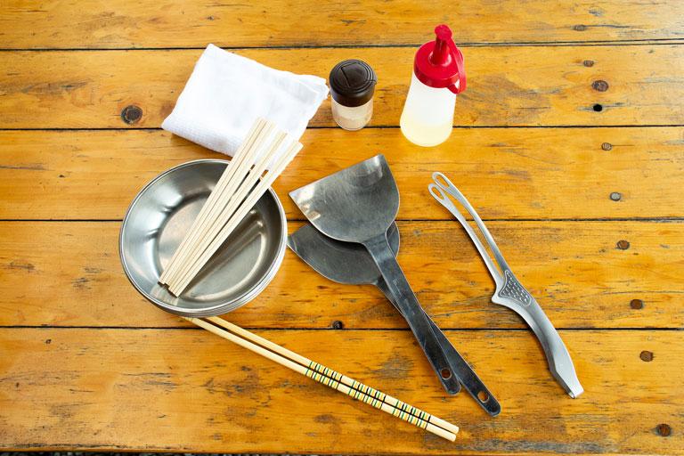 バーベキュー道具一式の写真