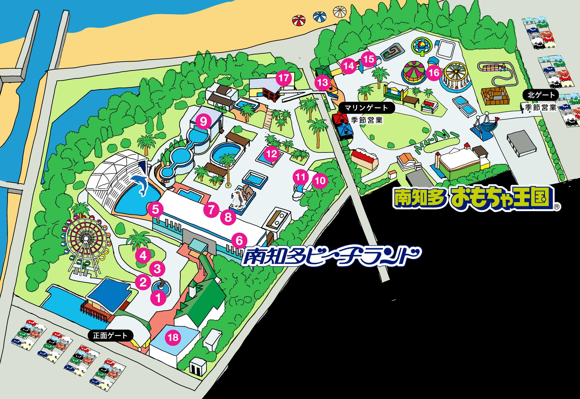 園内のマップ画像